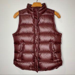 J Crew Puffer Vest Maroon Size XS